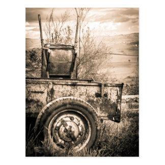 レトロイタリアンな田舎のヴィンテージ旅行イメージ ポストカード