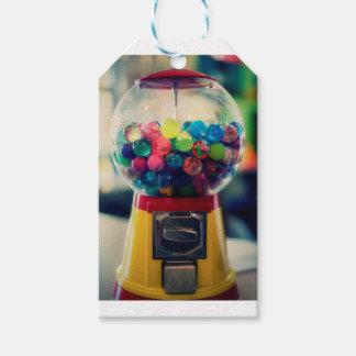 レトロキャンデーのbubblegumのおもちゃ機械 ギフトタグ