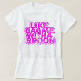 レトロスプーンとの私をギャグで加工して下さい Tシャツ