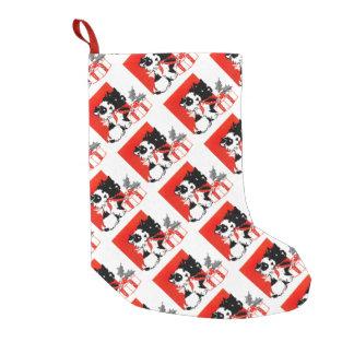 レトロテリアおよびScotty犬 スモールクリスマスストッキング