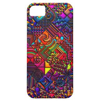 レトロデジタルキルトのモダン Case-Mate iPhone 5 ケース