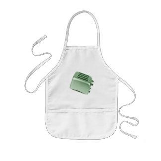 レトロトースター-緑 子供用エプロン