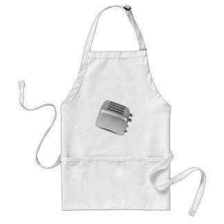 レトロトースター-薄い灰色B&W スタンダードエプロン
