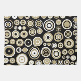 レトロパターン抽象美術-台所タオル キッチンタオル