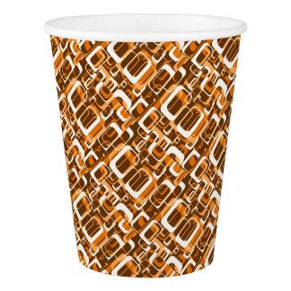 レトロパターン1971オレンジ 紙コップ