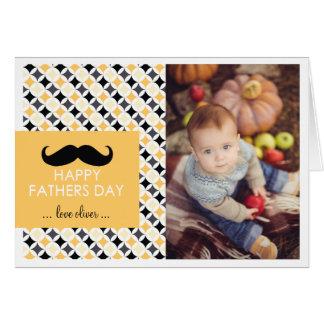 レトロパターン|髭の父の日カード カード