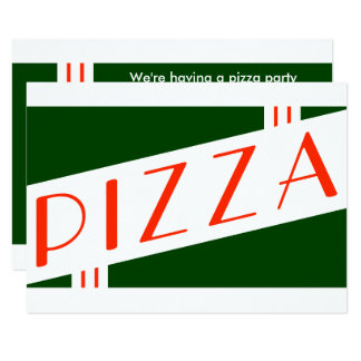 レトロピザパーティー カード