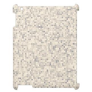 レトロベージュモザイク・タイルパターン iPad カバー