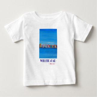 レトロポスターWillemstadクラサオ島 ベビーTシャツ