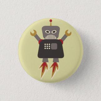 レトロロケットの漫画のロボット眼識 缶バッジ