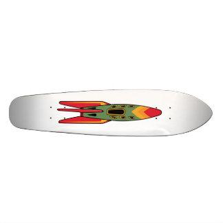 レトロロケット-色 スケートボード