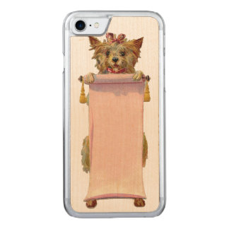 レトロ反逆犬のiPhone 5/5Sは木を細くします Carved iPhone 8/7 ケース
