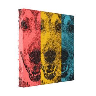 レトロ犬 キャンバスプリント