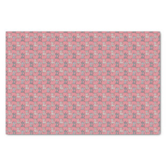 レトロ猫写実的なパターン灰色 薄葉紙