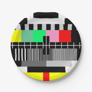 レトロ色TVテストスクリーン ペーパープレート