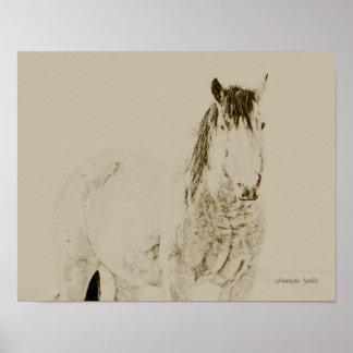 レトロ西部の芸術の馬のプリントヴィンテージ11x14のギフト ポスター