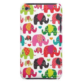 レトロ象はパターン壁紙をからかいます Case-Mate iPod TOUCH ケース