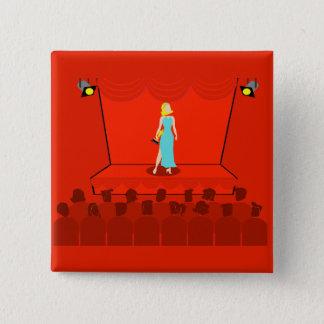 レトロ賞ショーボタン 5.1CM 正方形バッジ