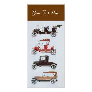 レトロ車2 -自動車修理の車のな茶色 ラックカード