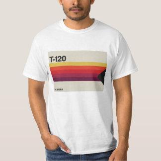 レトロ音楽およびビデオカセットテープグラフィック Tシャツ
