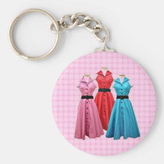 レトロ1950枚の服Keychain キーホルダー