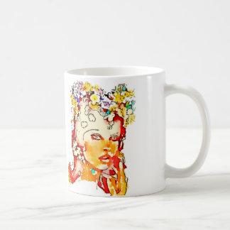 レトロ60s可愛い人のマグ コーヒーマグカップ
