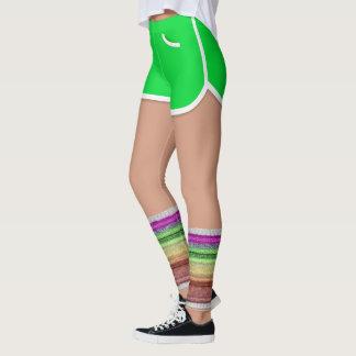 レトロ80s足のウォーマーはスポーツの不足分のレギンスを緑化します レギンス