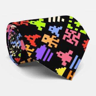 レトロ8bitピクセルアーケードのゲーマーのタイ カスタムネクタイ