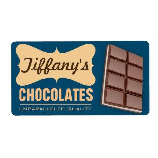 レトロ|チョコレート店|のハンドメイドチョコレート ラベル