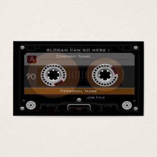 レトロDJの音楽カセットのMixTapeの名刺 名刺
