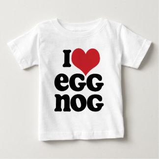 レトロI愛エッグノッグの乳児のTシャツ ベビーTシャツ