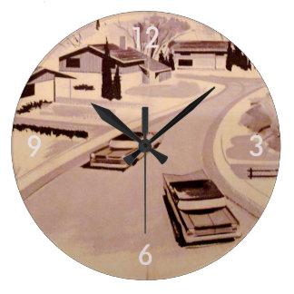 レトロlicious 60sのモダン ラージ壁時計