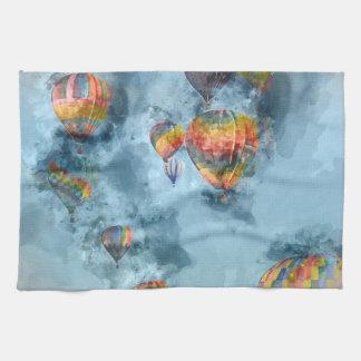 レノネバダの熱気の気球の競争 キッチンタオル