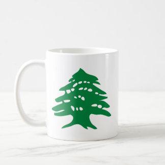 """""""レバノンの左利きの""""緑のヒマラヤスギ コーヒーマグカップ"""