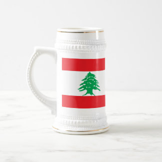 レバノンの旗が付いているマグ ビールジョッキ