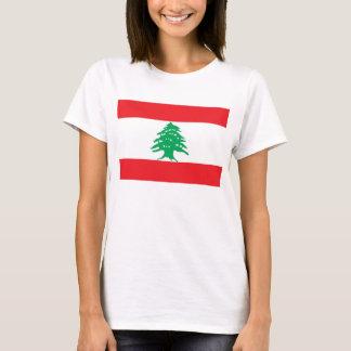 レバノンの旗が付いている女性のTシャツ Tシャツ