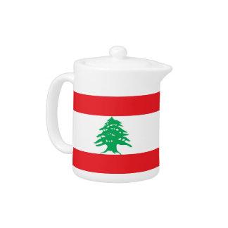 レバノンの旗のティーポット