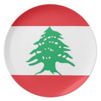 レバノンの旗のプレート プレート