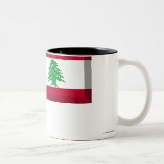 レバノンの旗の宝石 ツートーンマグカップ