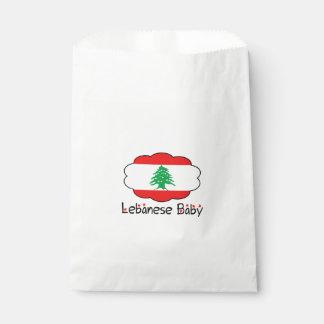 レバノンの旗の赤ん坊の好意のバッグ フェイバーバッグ