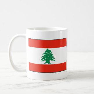 レバノンの旗の~の地図のマグ コーヒーマグカップ