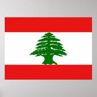レバノンの旗ポスター プリント