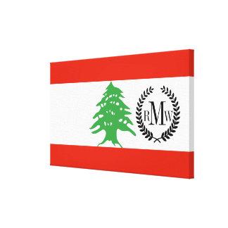レバノンの旗 キャンバスプリント