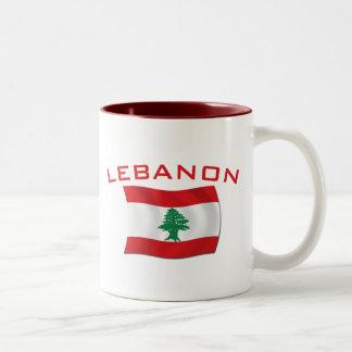 レバノンの旗 ツートーンマグカップ