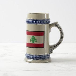レバノンの旗 ビールジョッキ