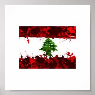 レバノンの旗 プリント