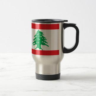 レバノンの旗-レバノンのعلملبنانの旗 トラベルマグ