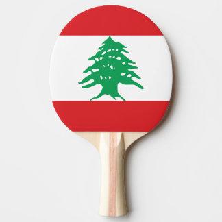 レバノンの旗 卓球ラケット