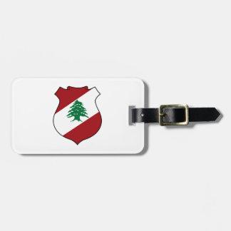 レバノンの紋章付き外衣 ラゲッジタグ