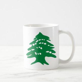 レバノンの緑のヒマラヤスギ コーヒーマグカップ